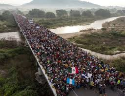 migrants on bridge